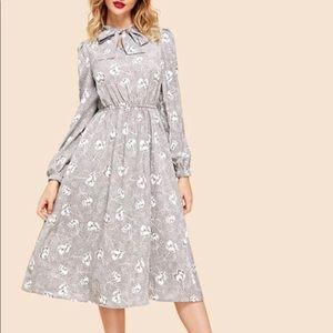 Shein Grey Midi Dress